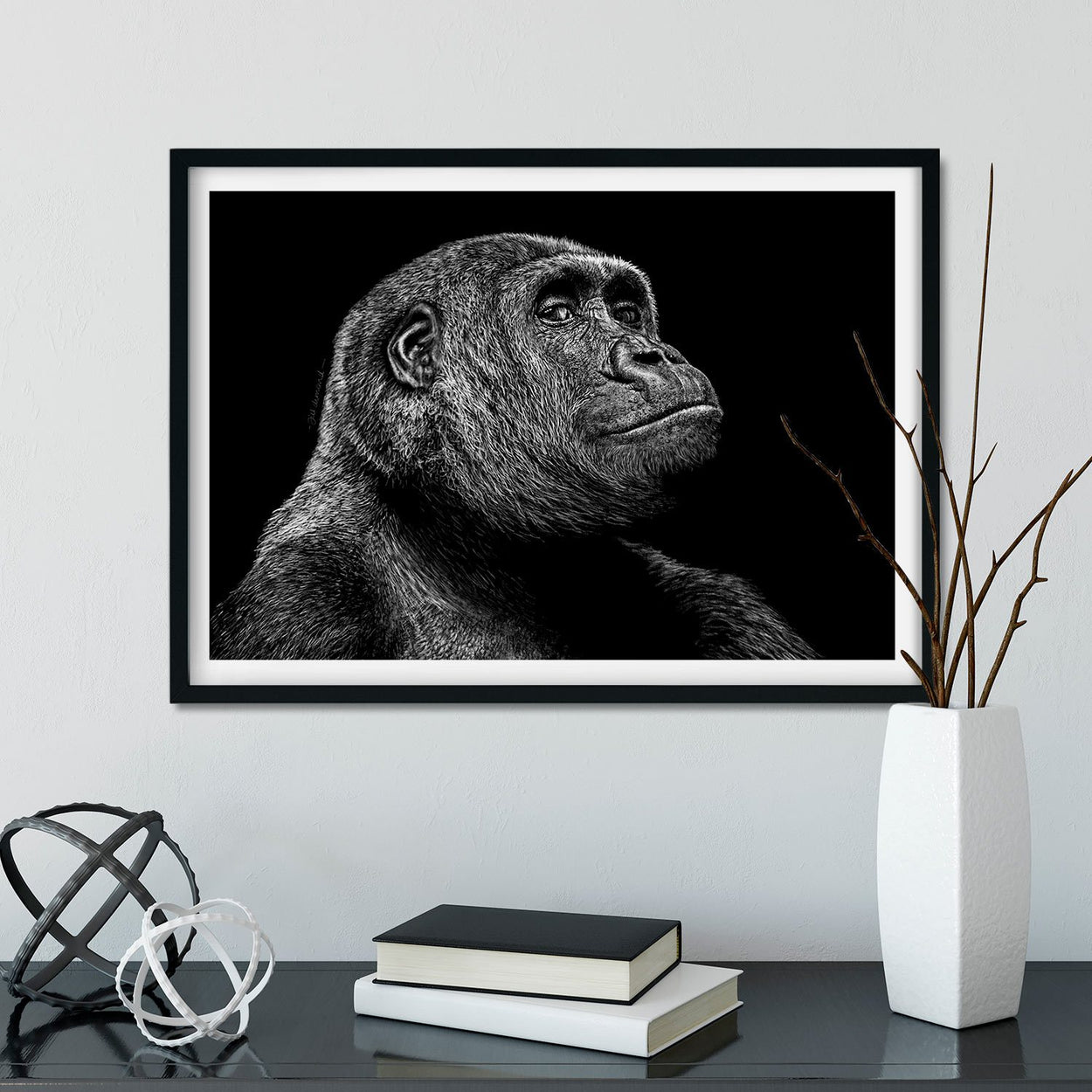 Gorilla Wall Art Frame - The Thriving Wild