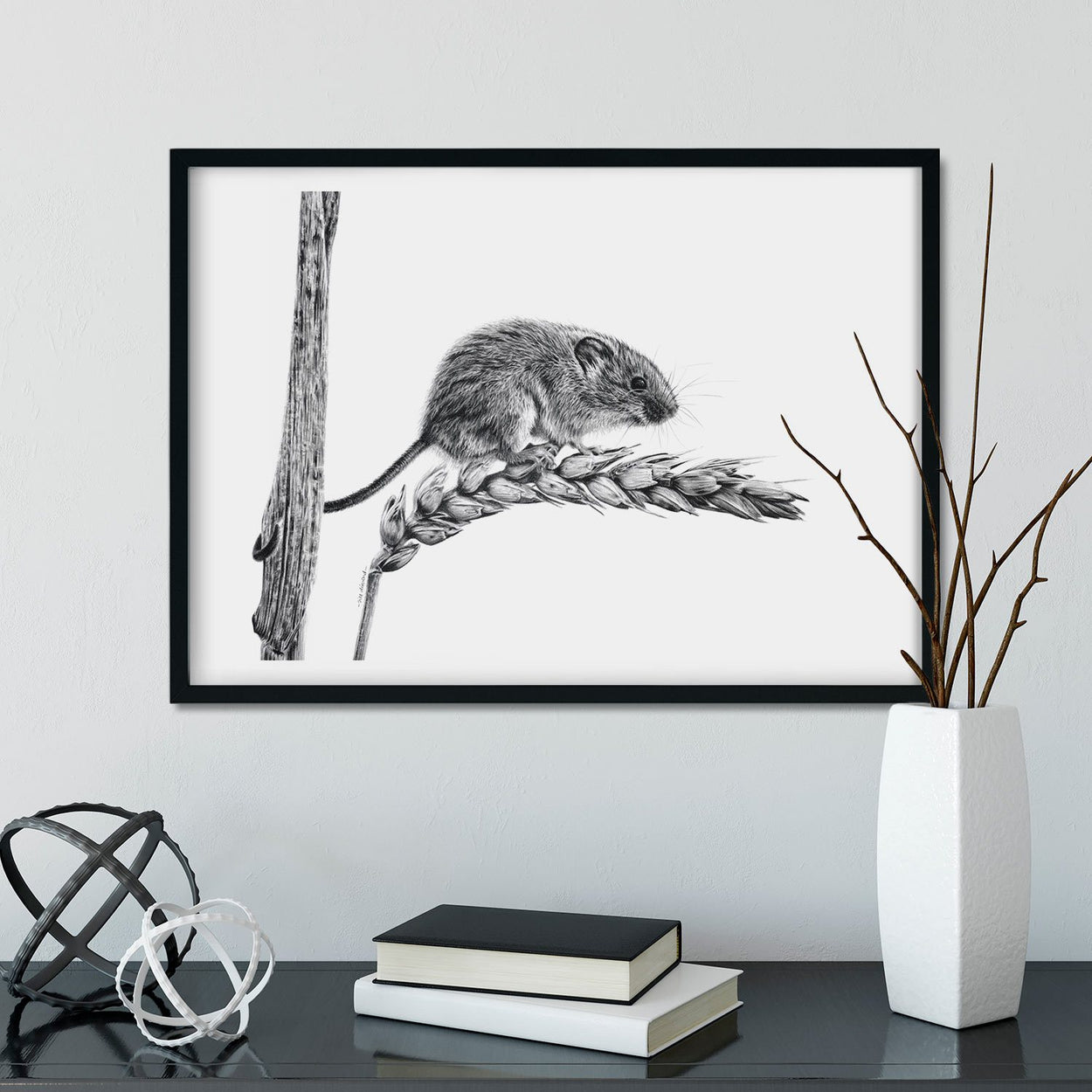 Harvest Mouse Wall Art - The Thriving Wild