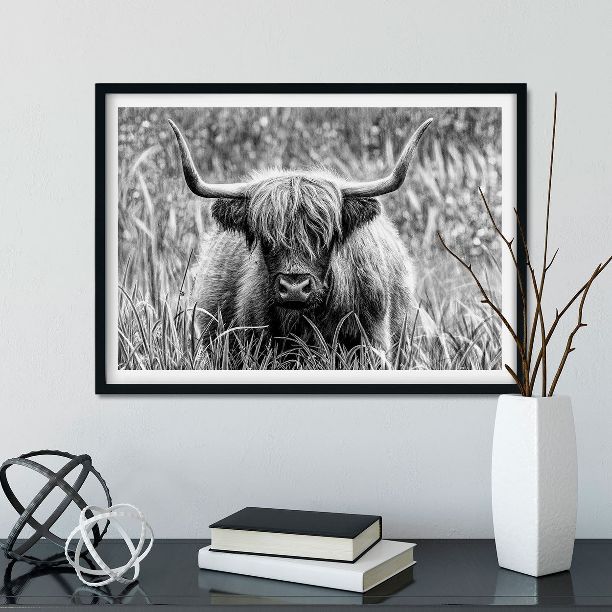 Highland Cow Wall Art Frame - The Thriving Wild