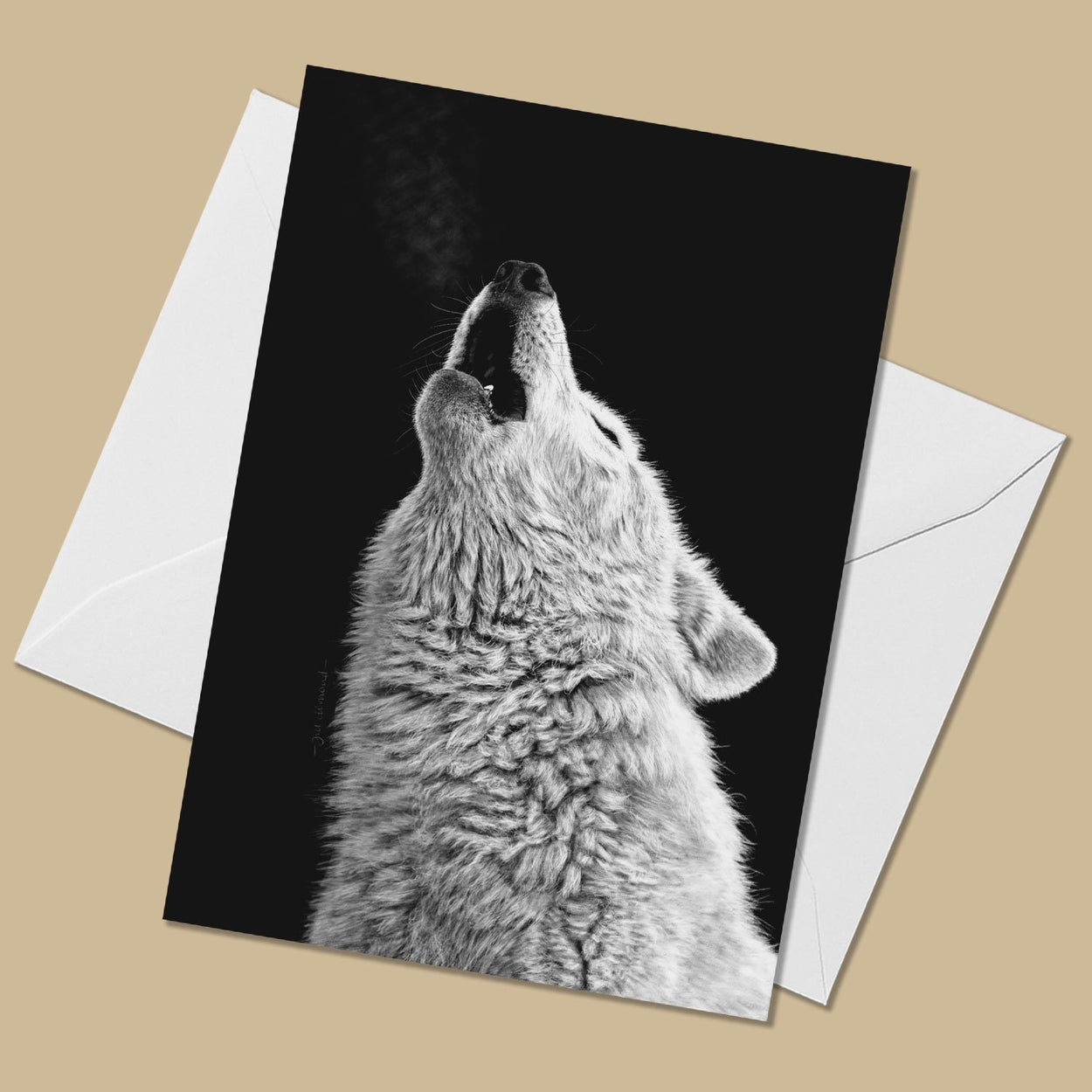 Howling Wolf Greeting Card - The Thriving Wild
