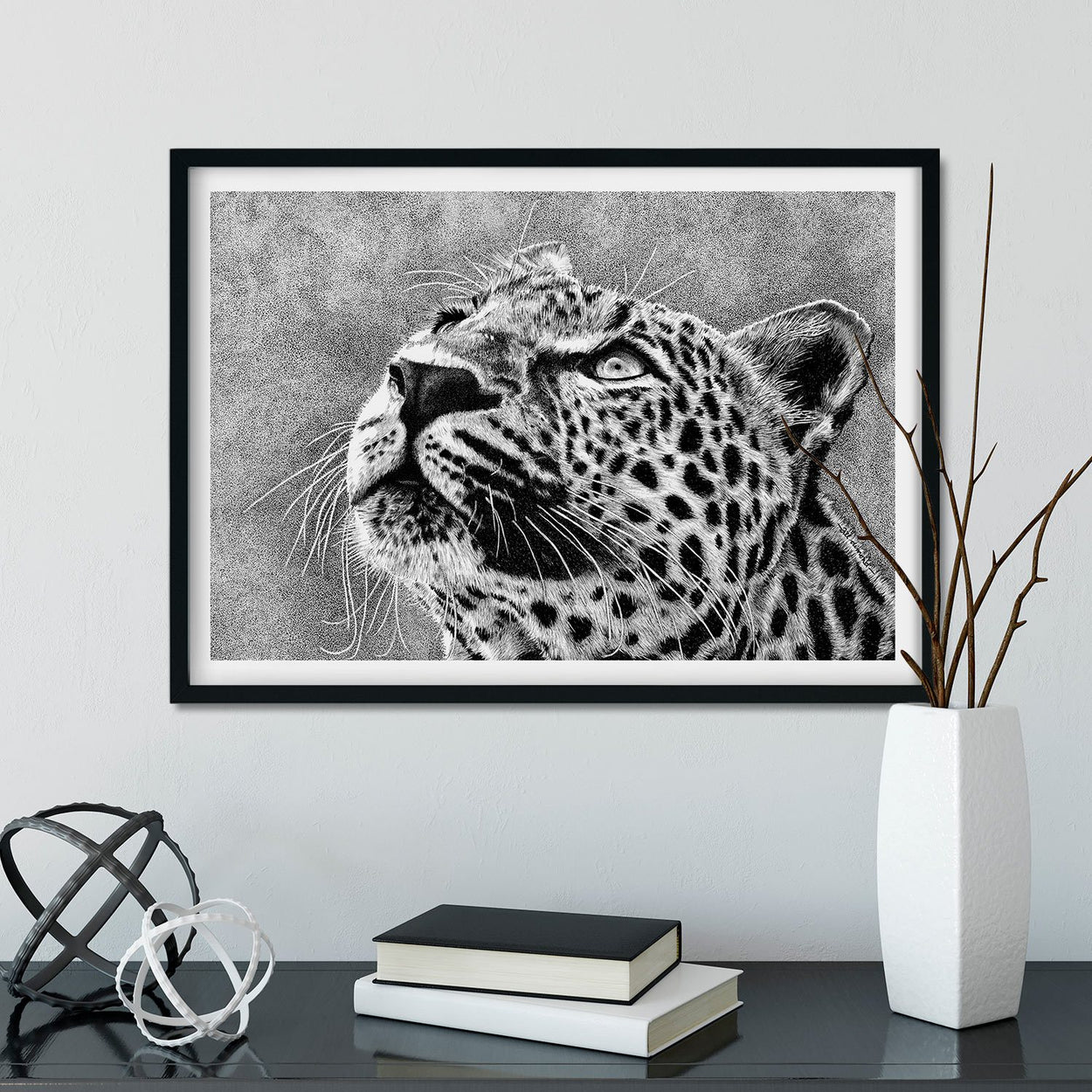 Leopard Wall Art Frame - The Thriving Wild