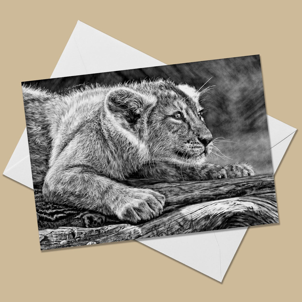 Lion Cub Greeting Card - The Thriving Wild