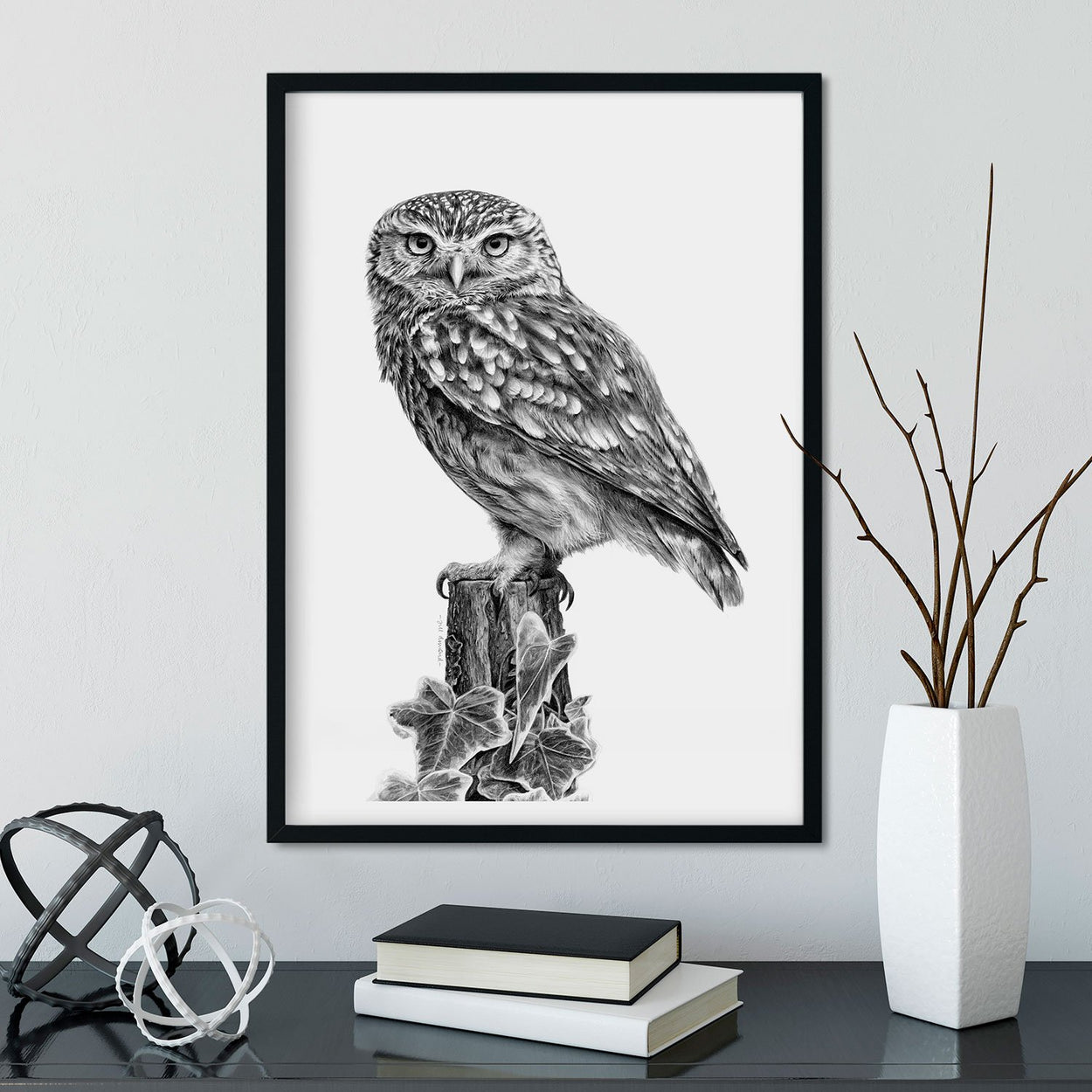 Little Owl Wall Art Frame - The Thriving Wild