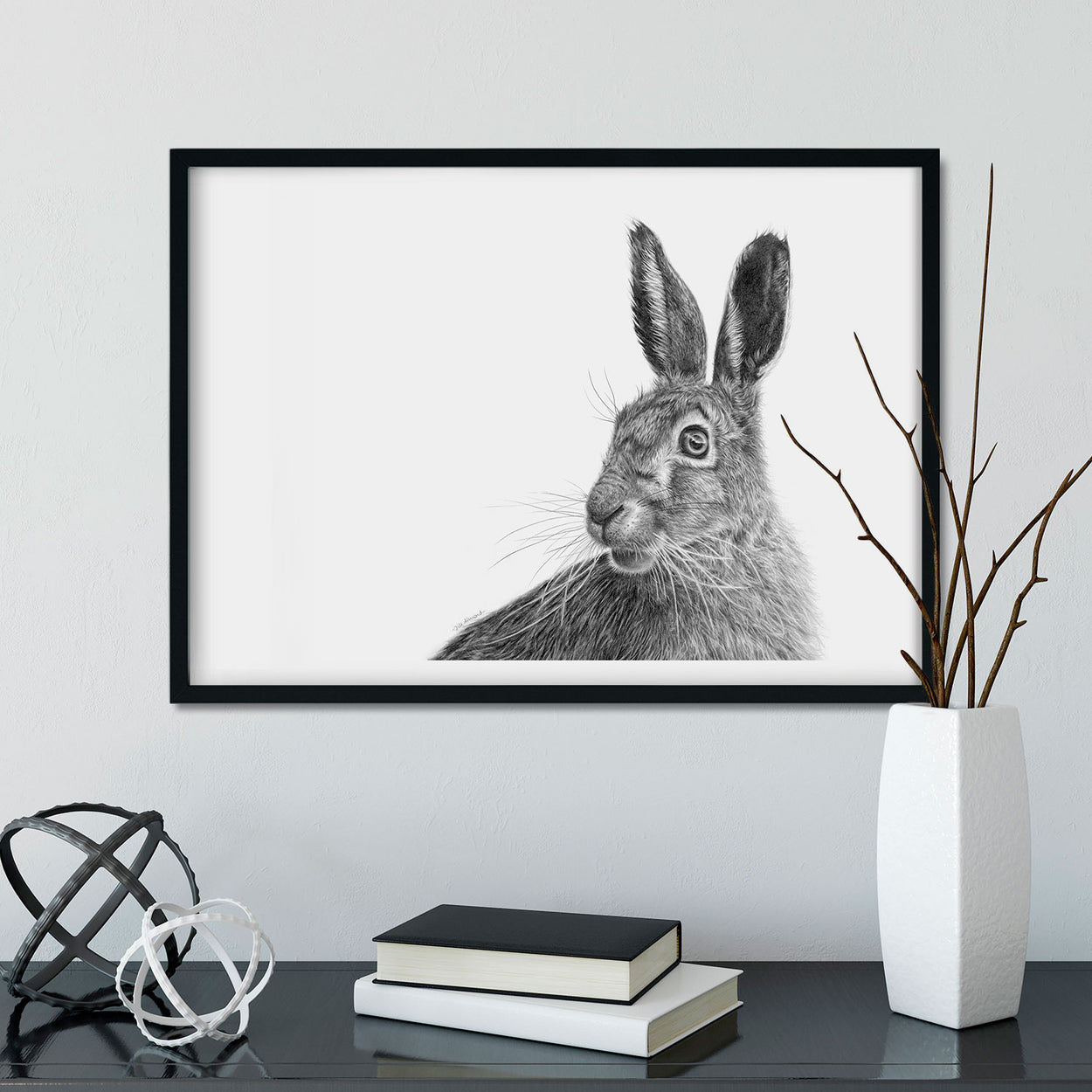 March Hare Framed Wall Art - The Thriving Wild