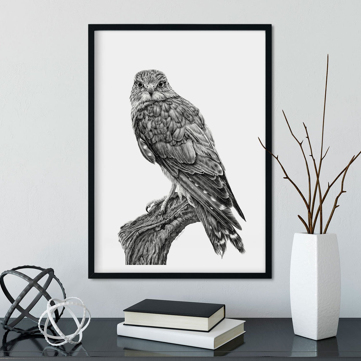 Merlin Wall Art Framed - The Thriving Wild