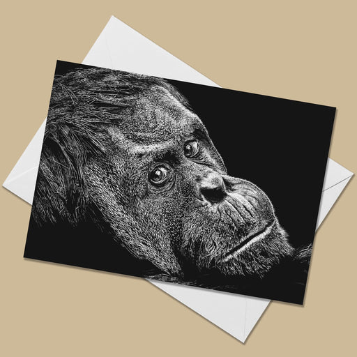 Orangutan Greeting Card - The Thriving Wild