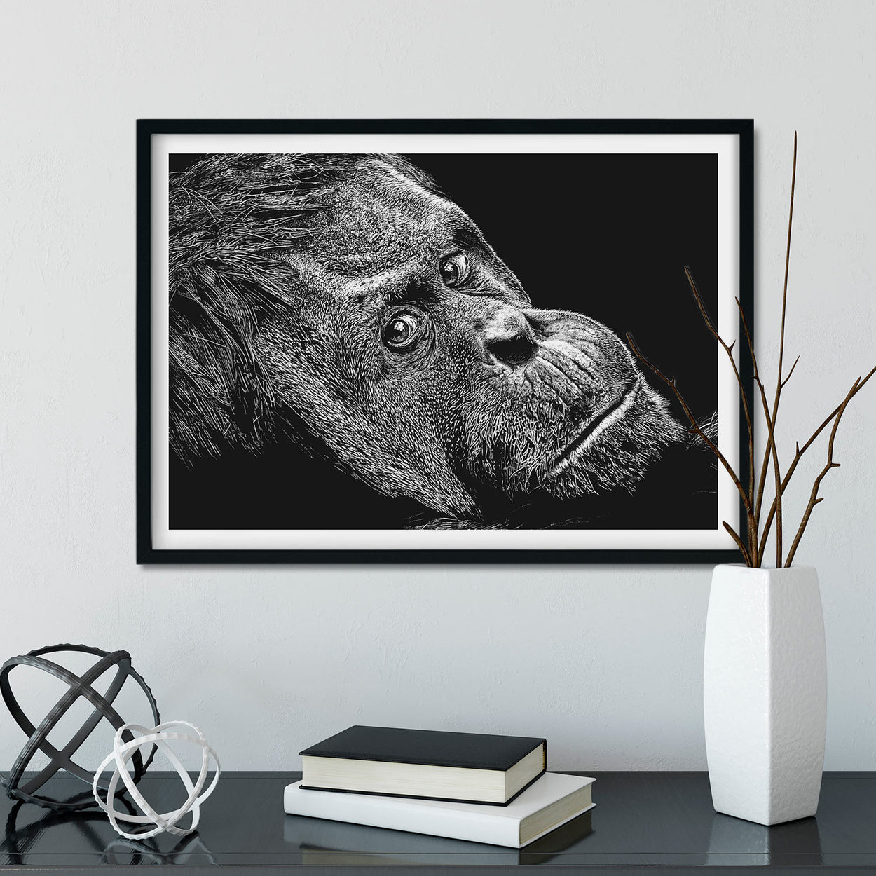 Orangutan Prints Frame - The Thriving Wild