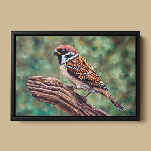 Original Tree Sparrow Oil Painting - Jill Dimond - The Thriving Wild