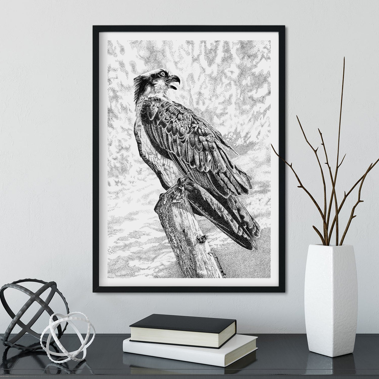 Osprey Wall Art Framed - The Thriving Wild
