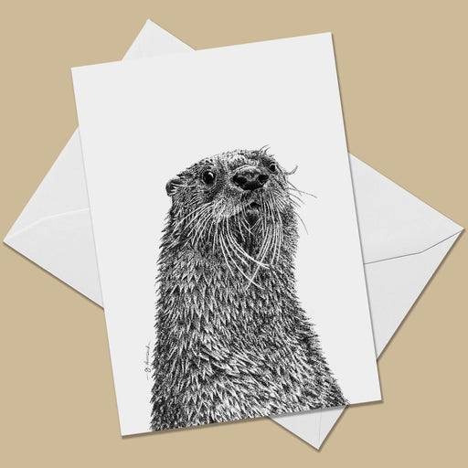 Otter Greeting Card - The Thriving Wild