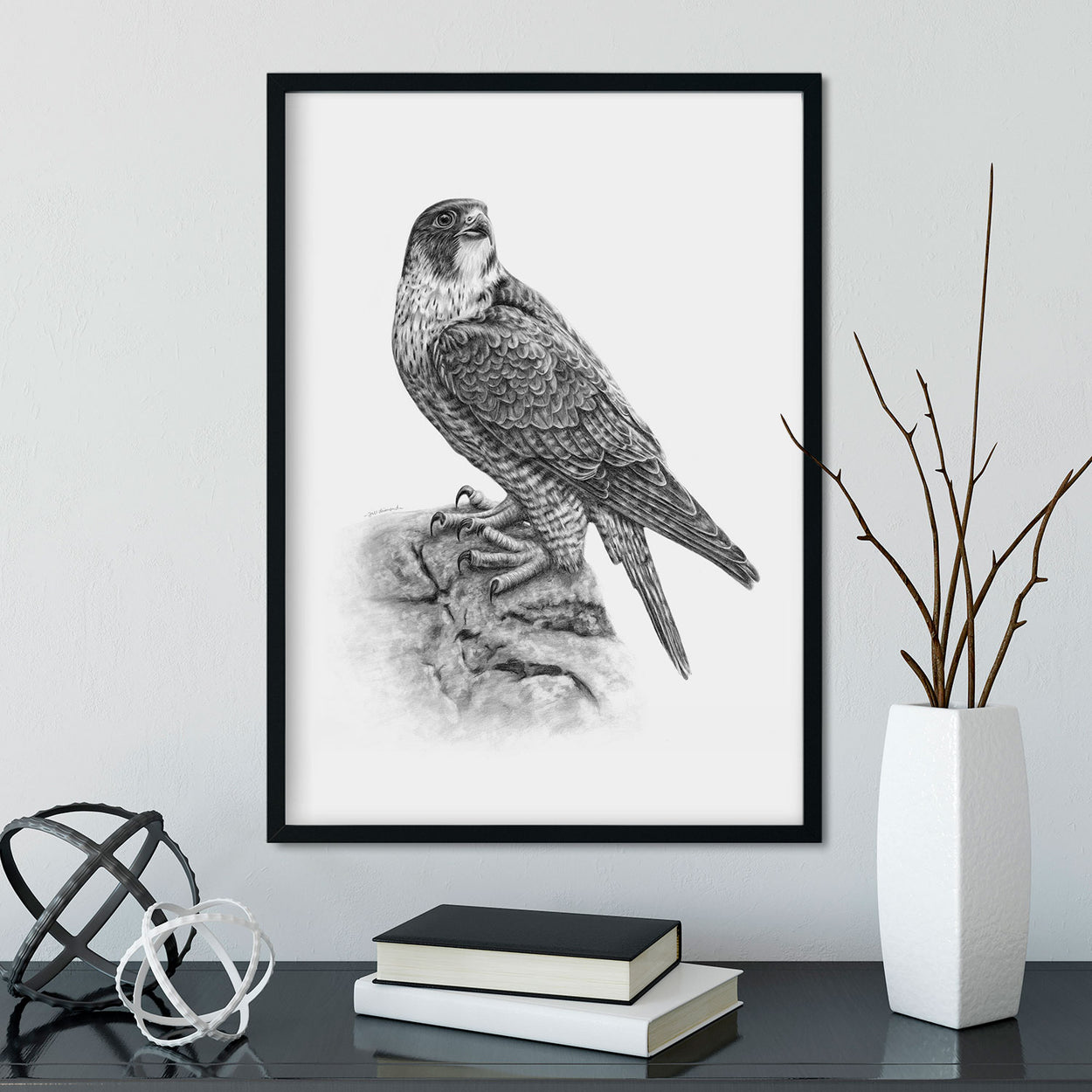 Peregrine Falcon Wall Art in Frame - The Thriving Wild