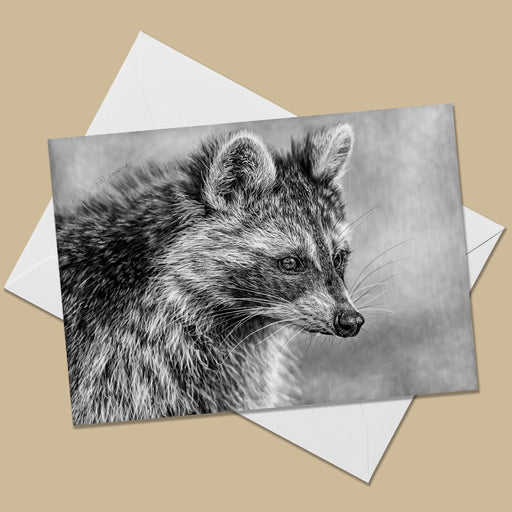Raccoon Greeting Card - The Thriving Wild