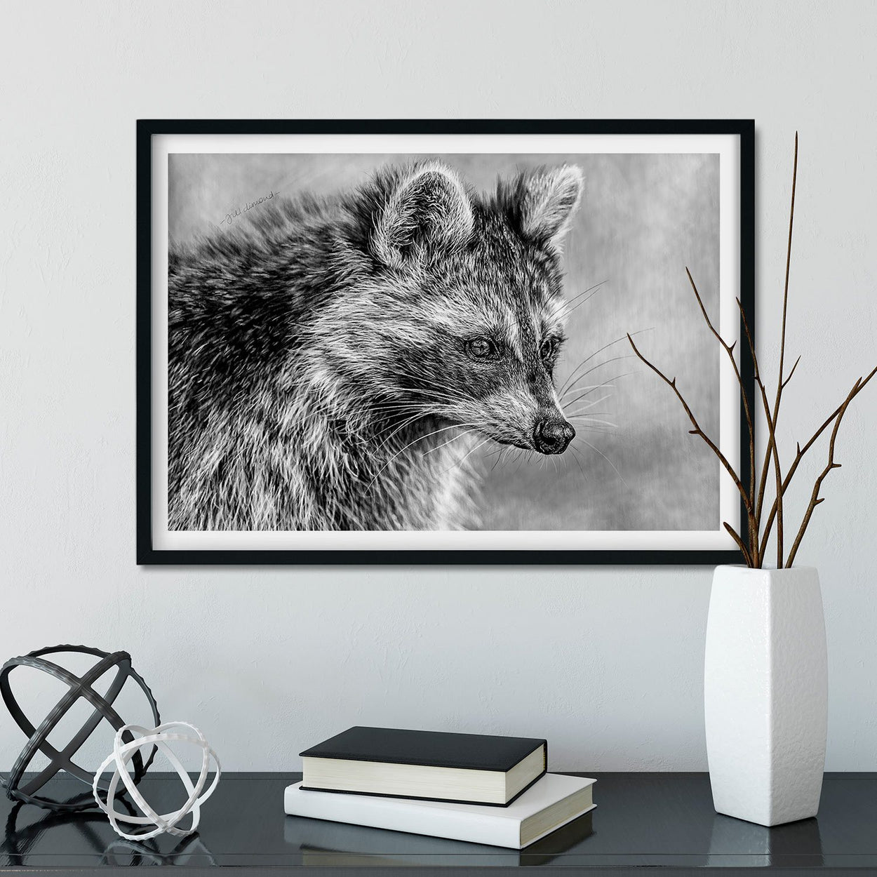Raccoon Wall Art Framed - The Thriving Wild