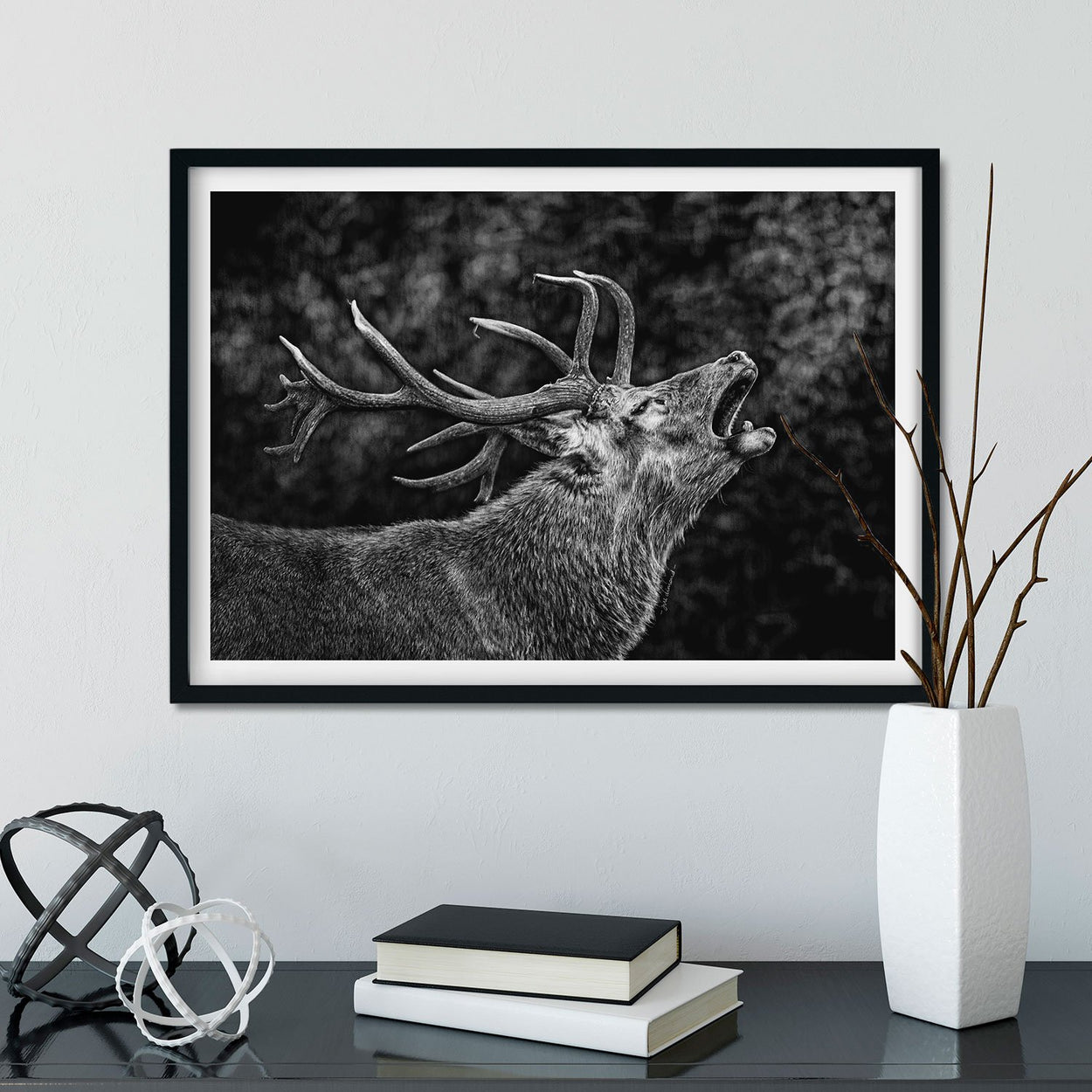 Red Deer Stag Wall Art - The Thriving Wild