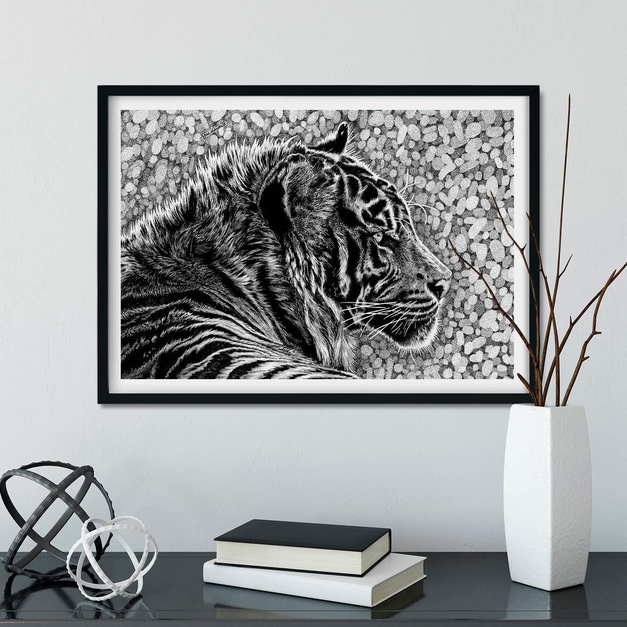 Tiger Wall Art Framed - The Thriving Wild