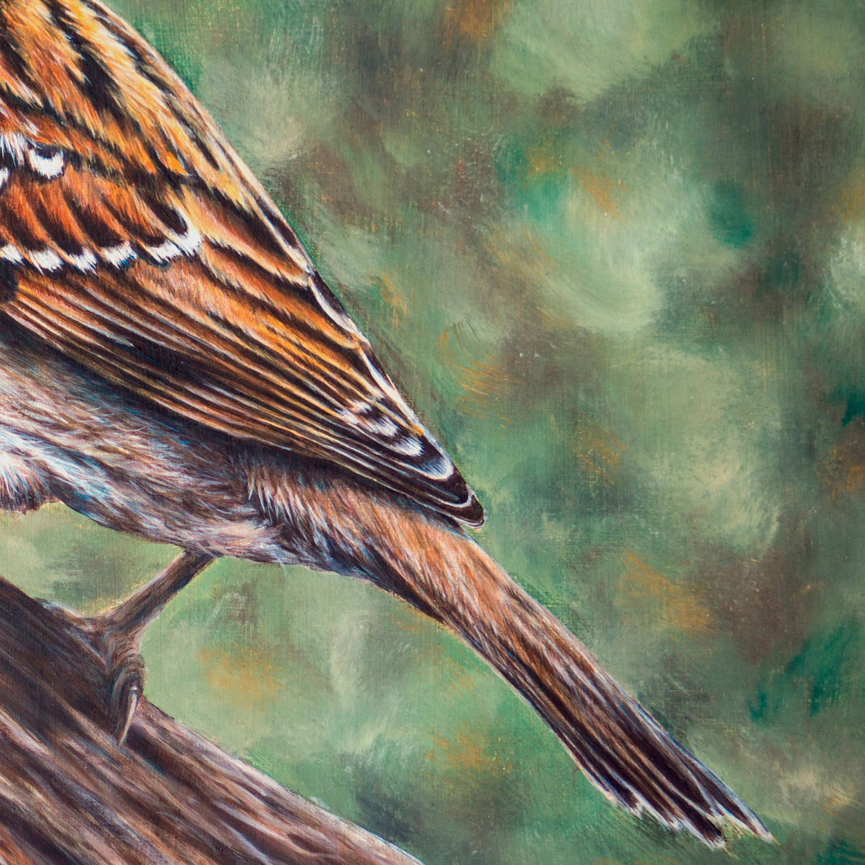 Tree Sparrow Painting Close-up 3 - The Thriving Wild