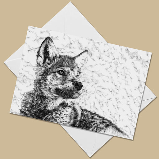 Wolf Cub Greeting Card - The Thriving Wild