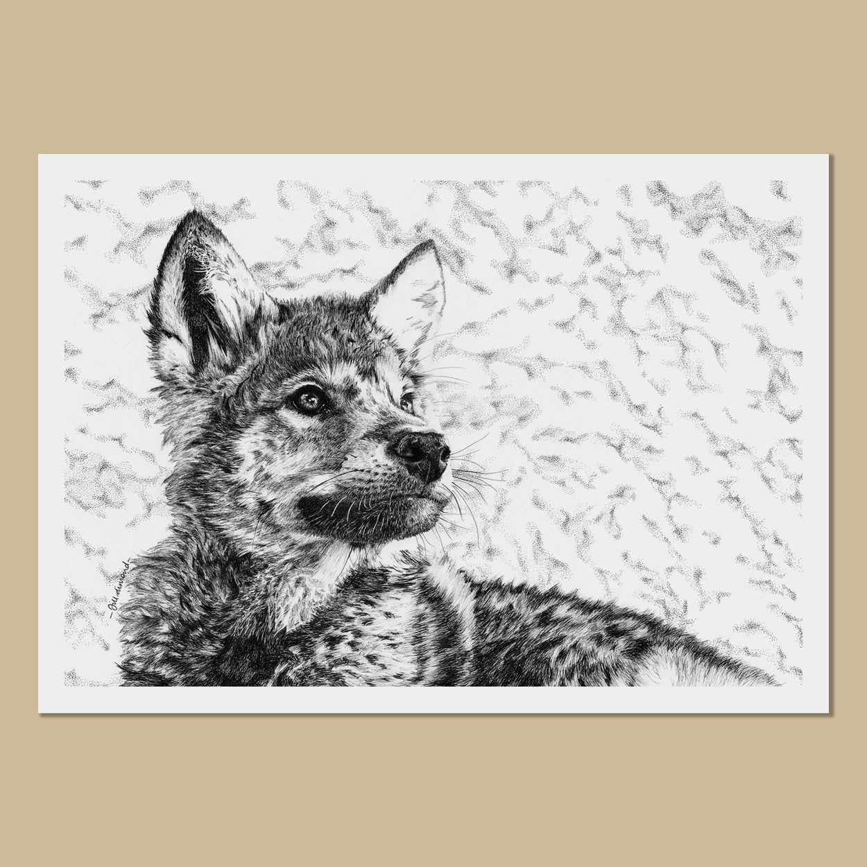 Wolfie the Wolf Cub Art Prints - The Thriving Wild