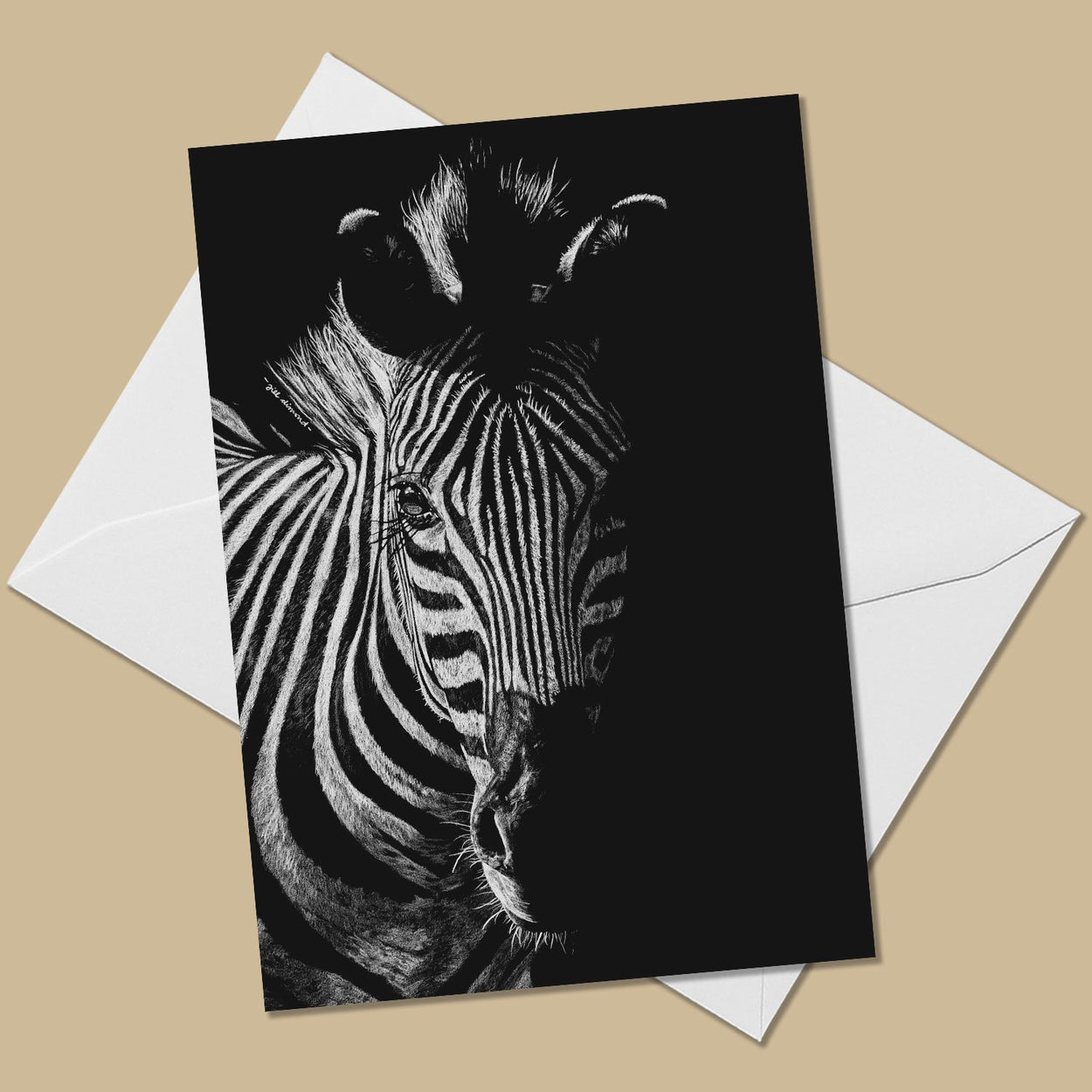 Zebra Greeting Card - The Thriving Wild