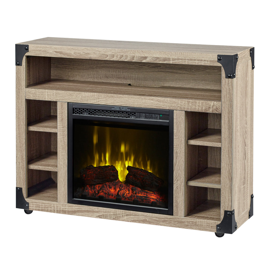Chelsea 37 in. TV Stand with 18 in. Electric Fireplace in Distressed Oak - C3P18LJ-2086DO