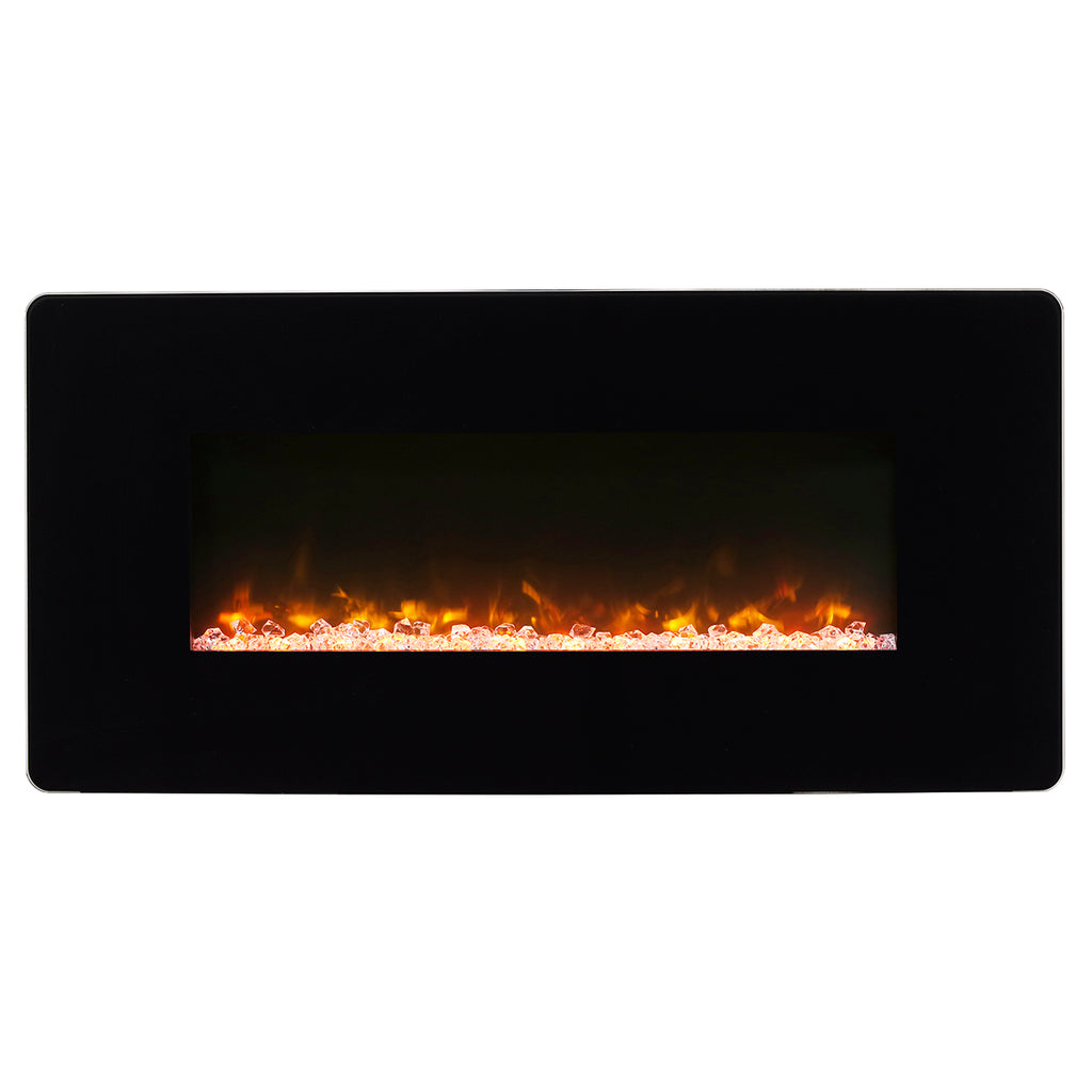 Winslow 36 in. Wall-Mount/Tabletop Linear Electric Fireplace in Black - SWM3520