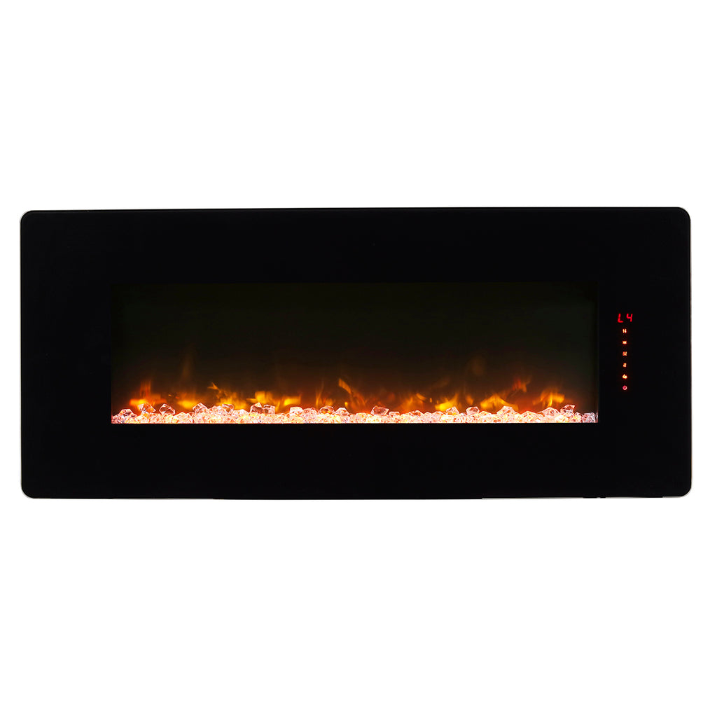 Winslow 42 in. Wall-Mount/Tabletop Linear Electric Fireplace in Black - SWM4220