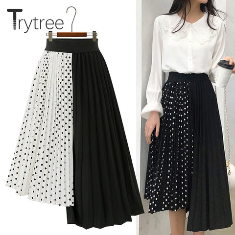 Asymmetrical Dotted Skirt