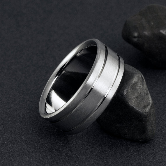 Handmade Women's Titanium Wedding Ring