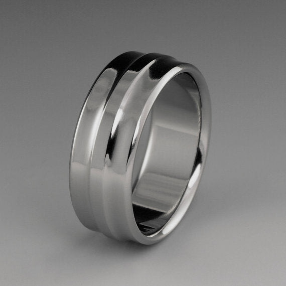 Unique Titanium Engagement Ring