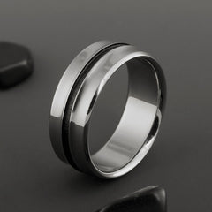 Titanium Black Engagement Ring