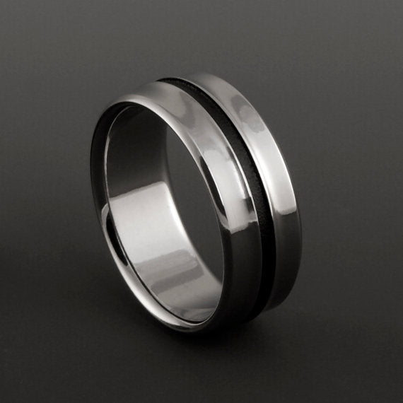 Unique Women's Titanium Wedding Ring