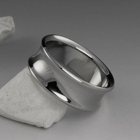 Titanium Ring - Concave Profile