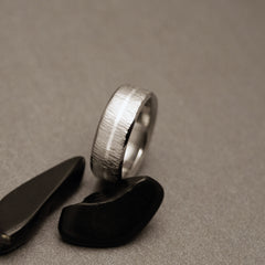 Wood Grain Wedding Ring