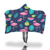 Flamingo Hooded Blanket-Hooded Blankz