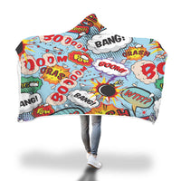 Comic Hooded Blanket-Hooded Blankz