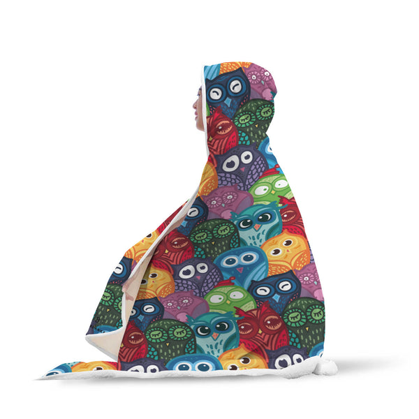 Hoot Hoot Hooded Blanket-Hooded Blankz