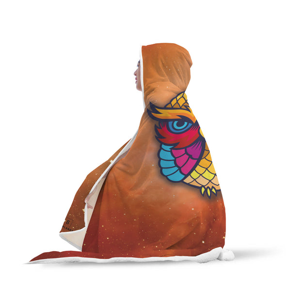 Nebula Owl Hooded Blanket-Hooded Blankz