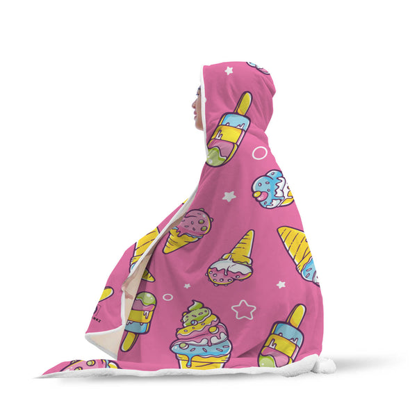 Ice Cream Hooded Blanket-Hooded Blankz
