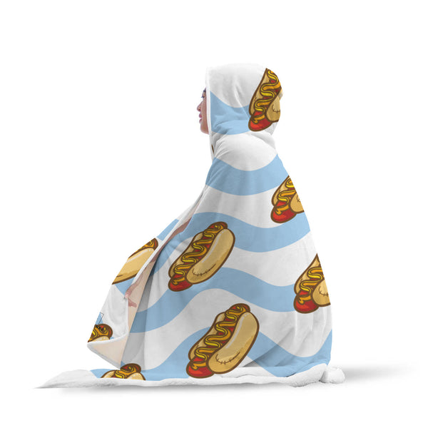 Hot Dog Hooded Blanket-Hooded Blankz