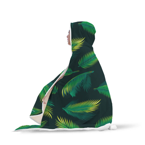 Palm leaf Hooded Blanket-Hooded Blankz