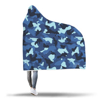 Blue Camo Hooded Blanket-Hooded Blankz