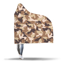 Desert Camo Hooded Blanket-Hooded Blankz