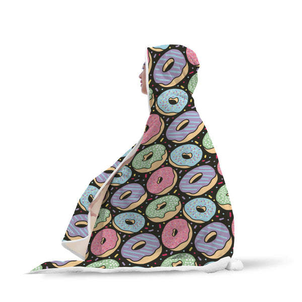 Donuts Hooded Blanket-Hooded Blankz