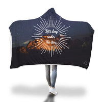 Let's sleep under the stars Hooded Blanket-Hooded Blankz