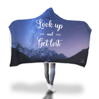 Look up and get lost Hooded Blanket-Hooded Blankz