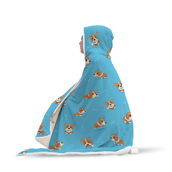 Corgi Hooded Blanket-Hooded Blankz