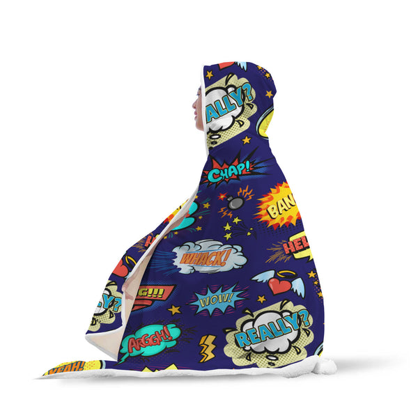 Pop art Hooded Blanket-Hooded Blankz
