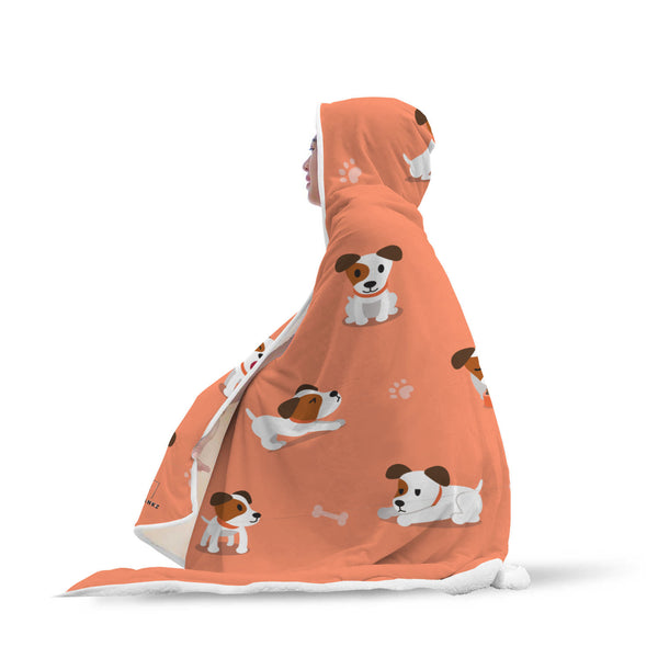 Jack Russel Hooded Blanket-Hooded Blankz