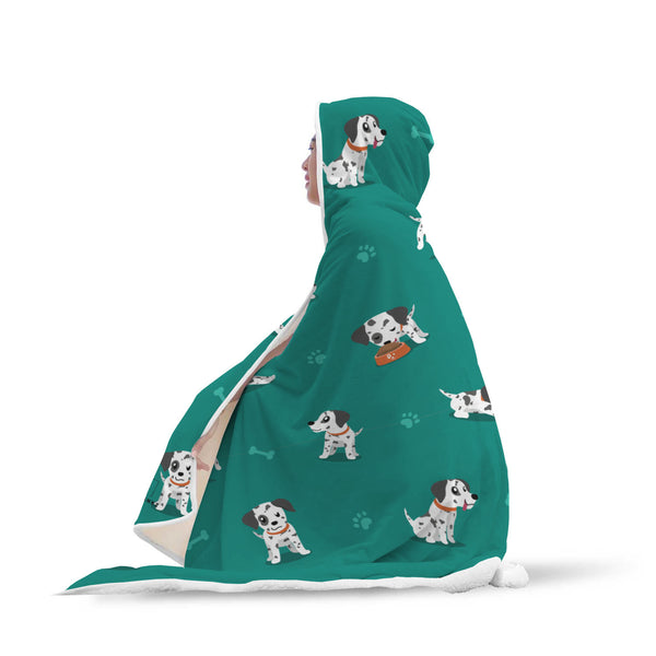 Dalmatian Hooded Blanket-Hooded Blankz