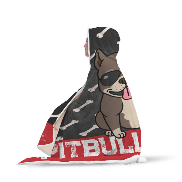 Pitbull Mama Hooded Blanket-Hooded Blankz